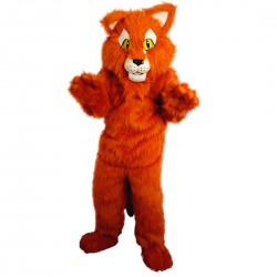 Orange Panther Mascot Costume