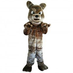Brown Bulldog Mascot Costume Adult Costume