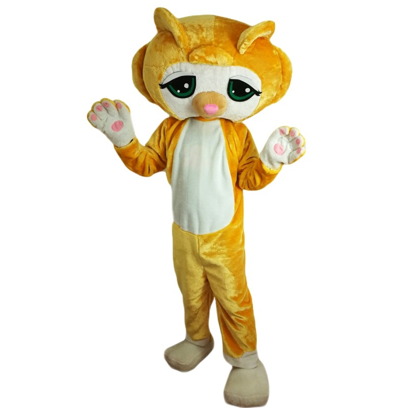 Cartoon Petshop Cat Mascot Costume Adult Costume