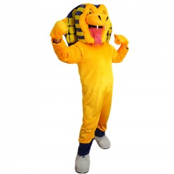 Yellow Cobra Snake Mascot Costume