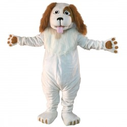 Plush Wizard Dog Mascot Costume