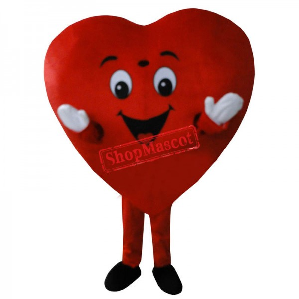 New Red Love Heart Mascot Costume Christmas Party Dress