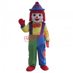 Hot Clown Comic Mascot Costume Halloween Party Dress