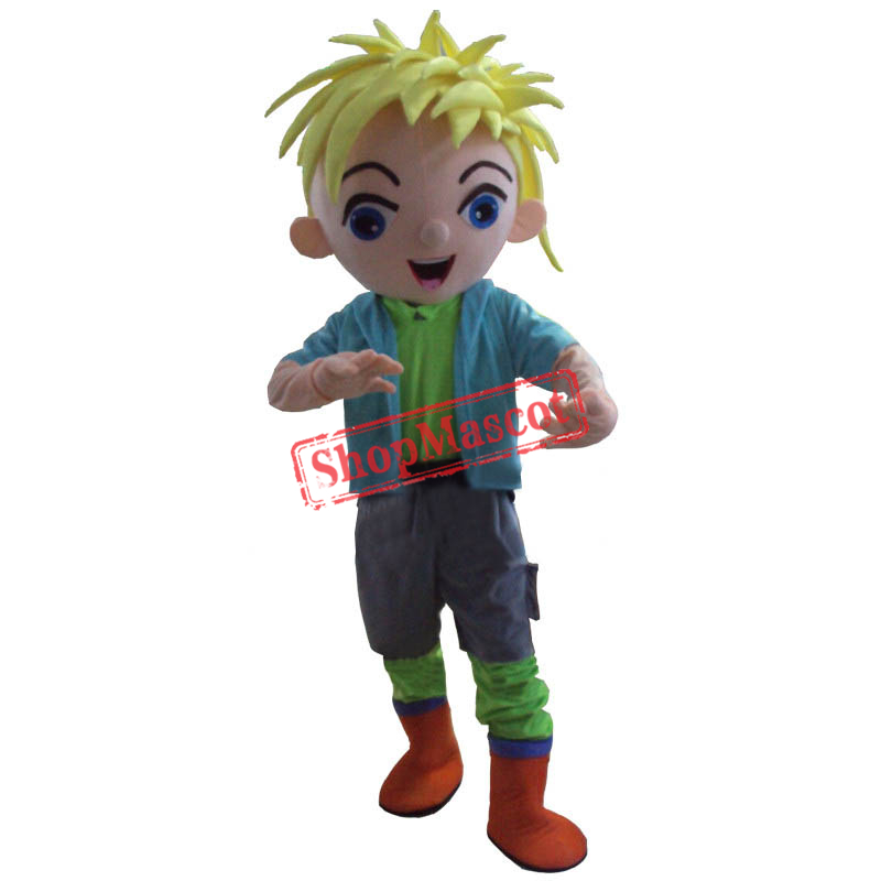 Boy Ragazzo Mascot Costume Cartoon Fancy Dress