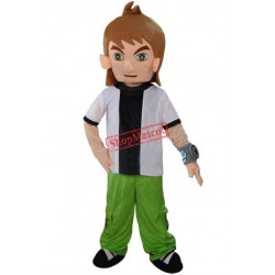 Ben 10 Cartoon Mascot Costume Adult Size Free Shipping