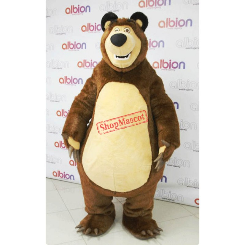 High Quality Masha Bear Ursa Grizzly Mascot Costume Cartoon