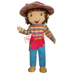 SpotSound Strawberry Shortcake Girl Mascot Costume