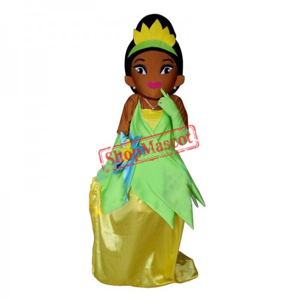 Tiana Princess Mascot Costume of The Princess and the Frog Fancy Dress