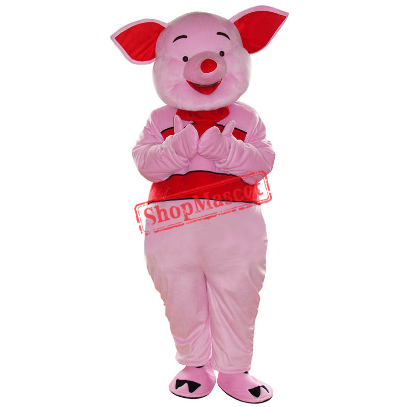 Cute Pink Piglet Pig Cartoon Mascot Costume Fancy Party Dress