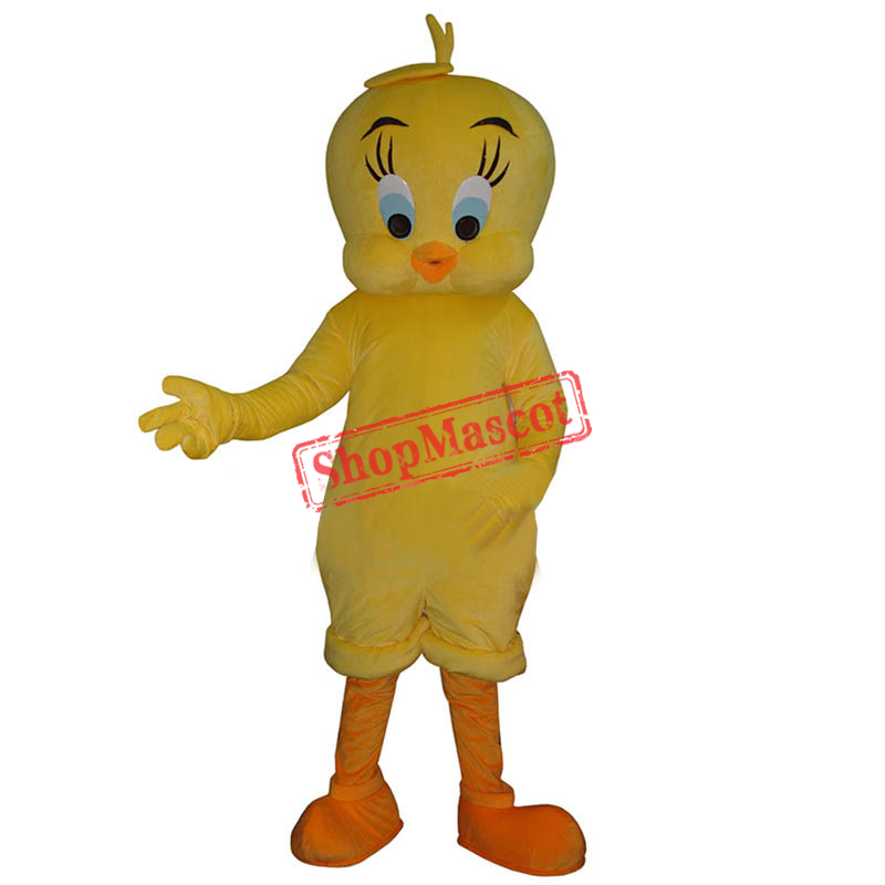 Tweety Looney Mascot Costume Cartoon Bird Fancy Dress Adult