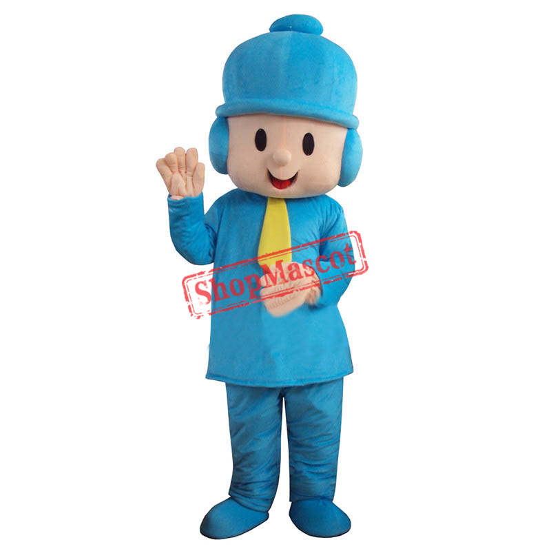 Pocoyo Boy Costume Character Cartoon Mascot Costume