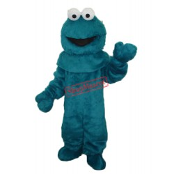 Blue Cookie Monster Sesame Street Mascot Costume