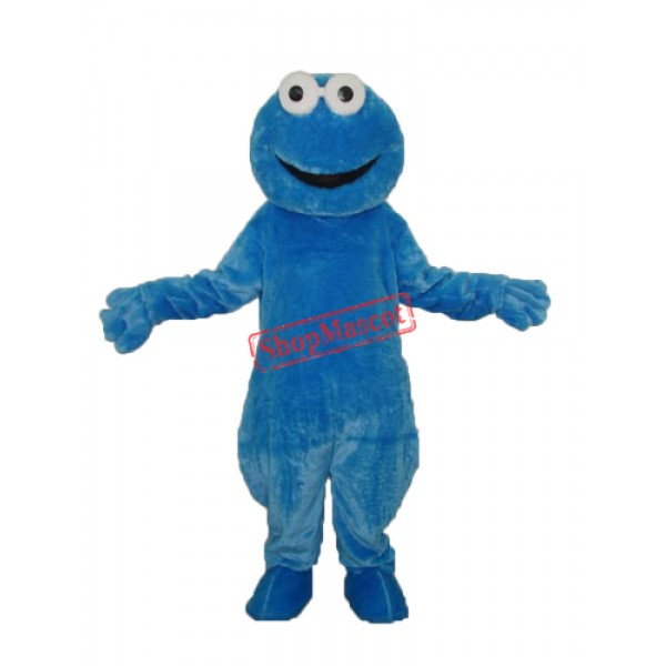 Long-haired Cookie Monster Mascot Adult Costume