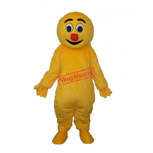 Yellow Monster Mascot Adult Costume