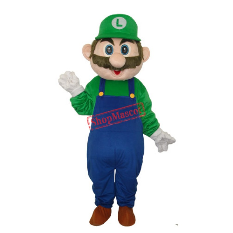 Dark Blue Mario Mascot Adult Costume