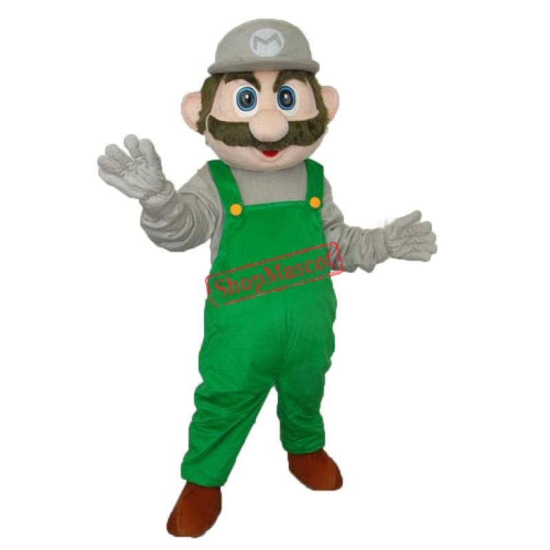 Green Mario Mascot Adult Costume