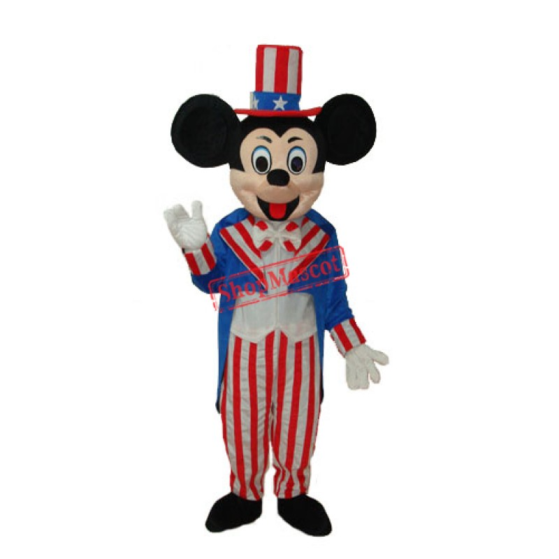 American Mickey Mouse Mascot Adult Costume