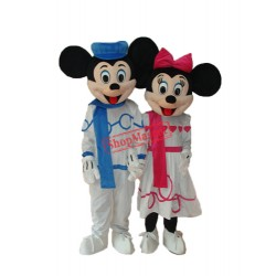 Leisure Mickey and Minnie Mascot Adult Costume