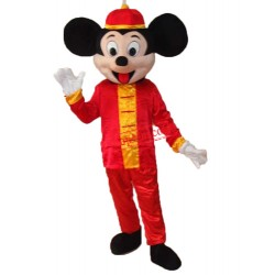 Mickey Mouse In Tang Suit Mascot Adult Costume