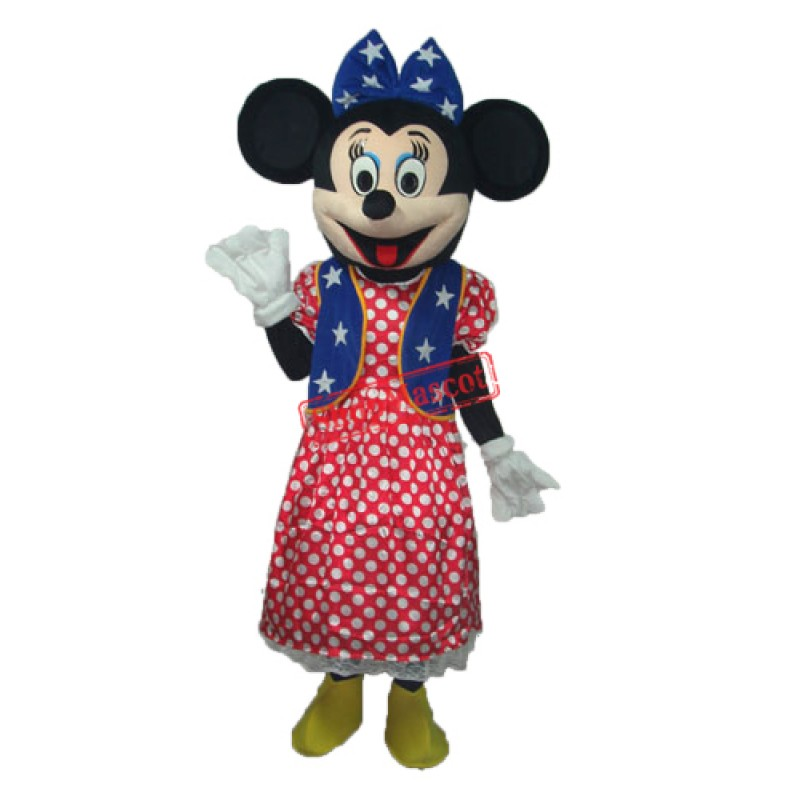 America Minnie Mascot Adult Costume