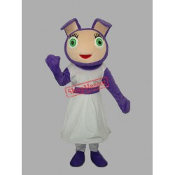 PurpleGirl Adult Mascot Costume