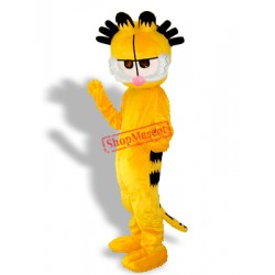 Black Hair Garfield Adult Mascot Costume