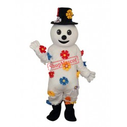 Flower Snowman Mascot Adult Costume