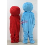 Red Elmo Blue Cookie Monster Sesame Street Adult Mascot Costumes