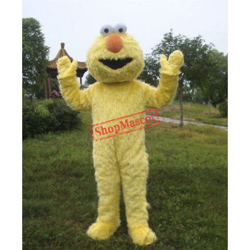 Yellow Sesame Street Cookie Monster Mascot Costume
