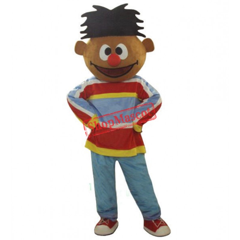 Sunshine Orange Boy Lad Ernie Sesame Street Mascot Costume