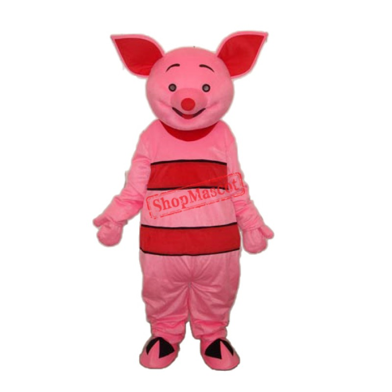 New Version Small Pink Pig Mascot Adult Costume Free Shipping