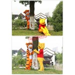 Winnie & Tiger the Pooh Mascot Costume Free Shipping