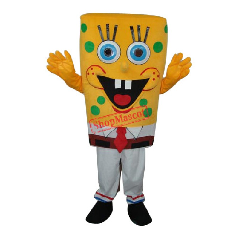 6th Version SpongeBob Mascot Adult Costume Free Shipping