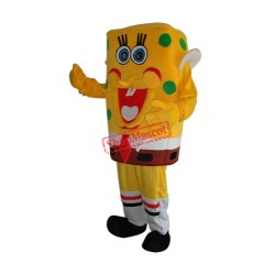 SpongeBob with Green Dot Mascot Adult Costume