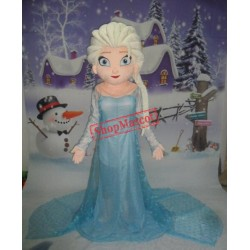 Princess Elsa Mascot Costume