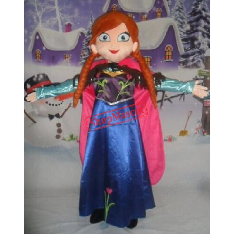 Princess Anna Mascot Costume
