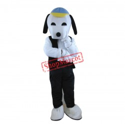 Black Snoopy Cartoon Mascot Adult Costume Free Shipping