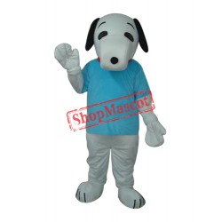 Blue T-shirt Snoopy Mascot Adult Costume Free Shipping