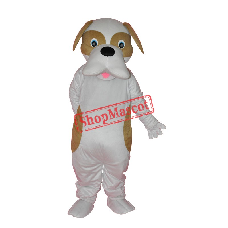 Brown and White Dog Adult Mascot Costume Free Shipping