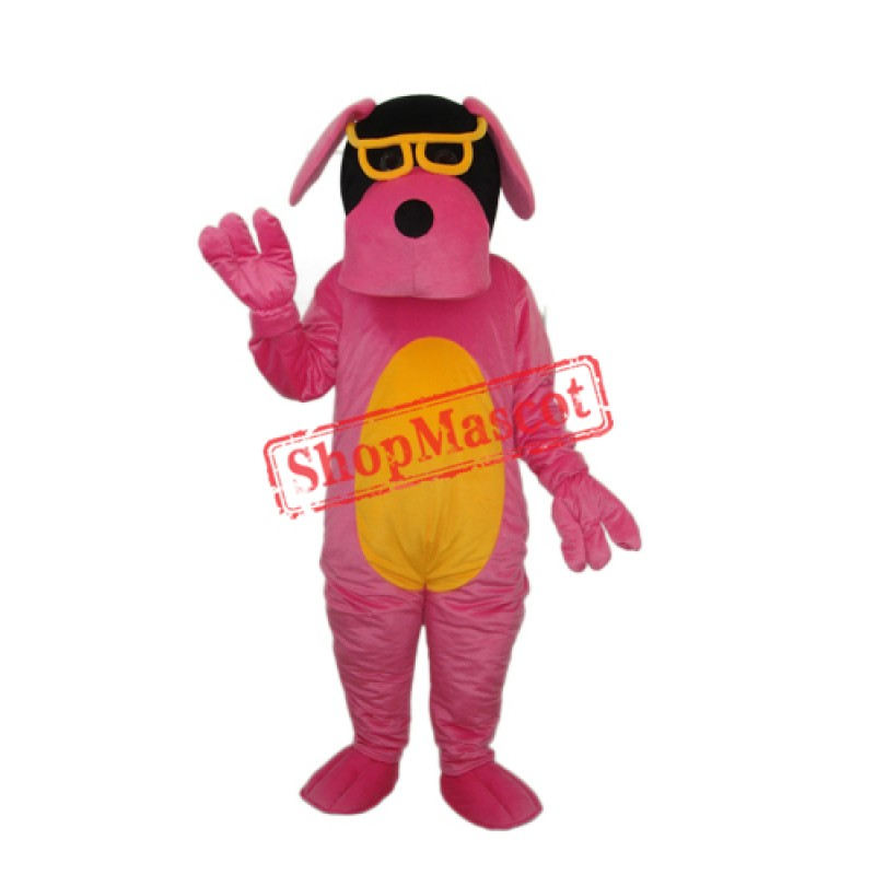 Glasses Dog Mascot Adult Costume Free Shipping
