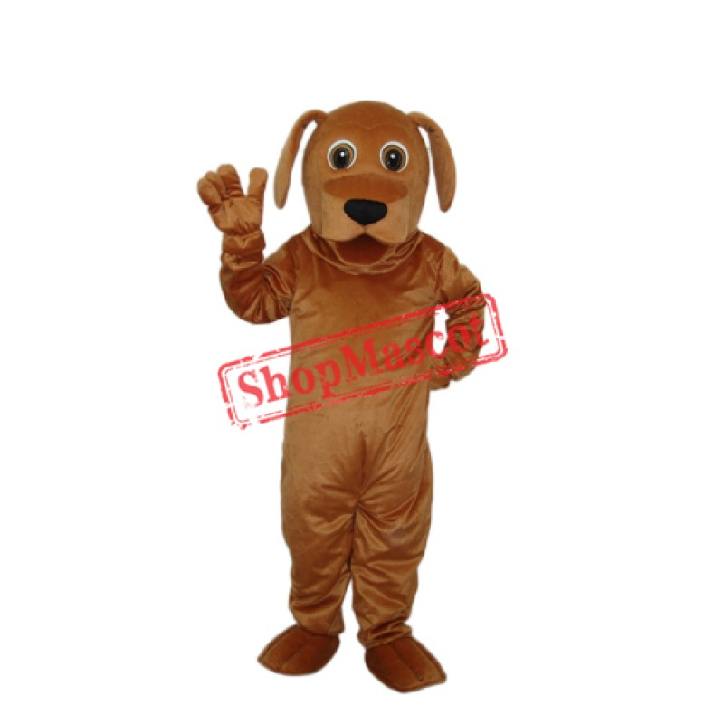 Golden Dog Mascot Adult Costume Free Shipping