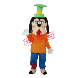 Goofy Dog Mascot Adult Costume Free Shipping