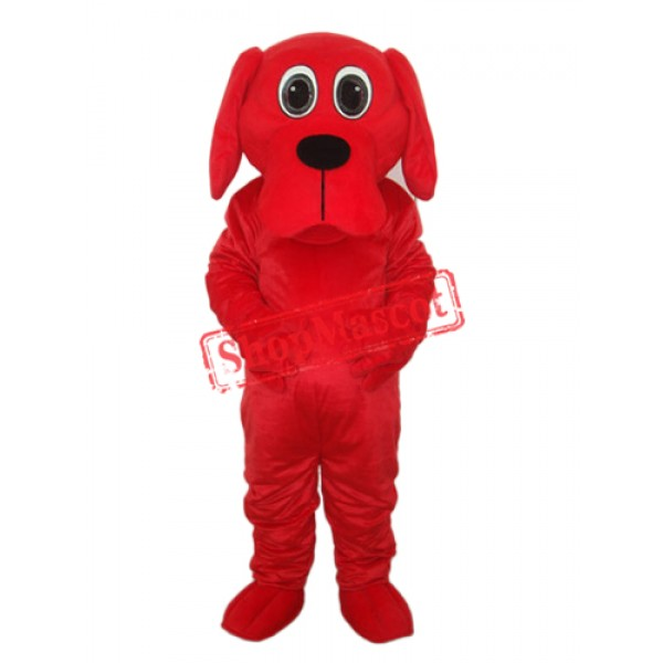Black Nose Rooney Red Dog Mascot Adult Costume Free Shipping