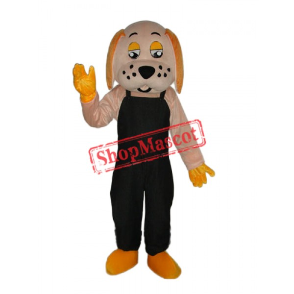 Black Orange Lucky Dog Mascot Adult Costume Free Shipping