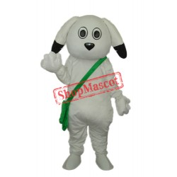 Green Bag White Dog Mascot Adult Costume Free Shipping