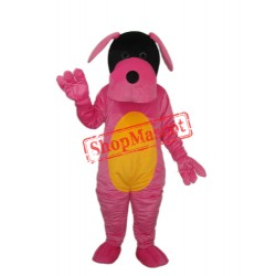 Pink Dog Mascot Adult Costume Free Shipping