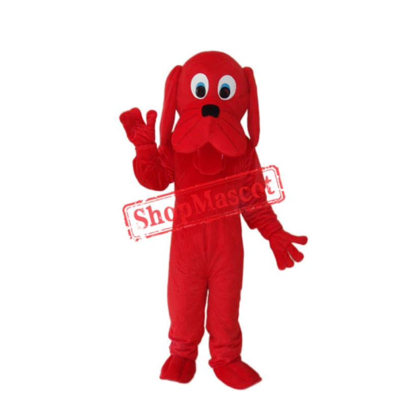 Red Dog Mascot Adult Costume Free Shipping