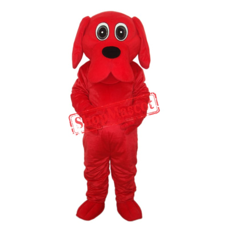 Rooney Red Dog Mascot Adult Costume Free Shipping
