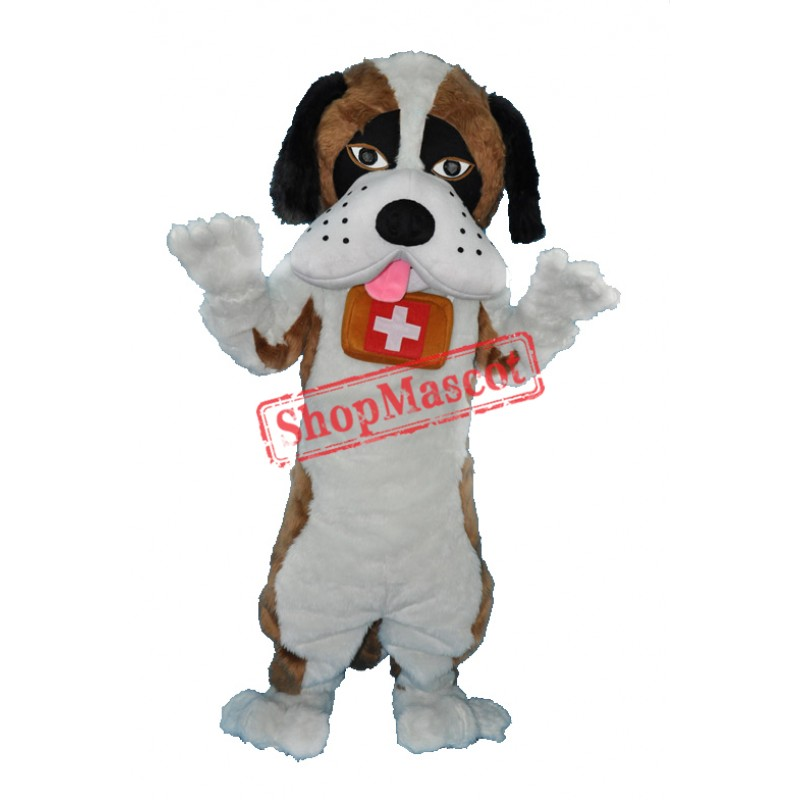 Saint Bernard Dog Mascot Adult Costume Free Shipping