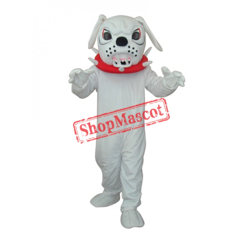 White Angry Dog Adult Mascot Costume Free Shipping